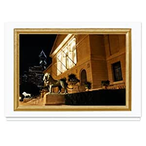 Chicago, Art Institute of Chicago Christmas Card - 25 Premium Greeting Cards with Foiled-lined Envelopes