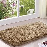 "KLOUD City® Camel Color anti-slip microfiber carpet / doormat / floor mat / bedroom / kitchen area rug carpet (31"" x 20"") plus KLOUD City cleaning cloth"