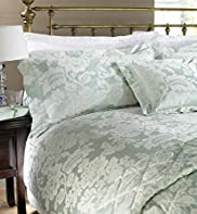 Aqua Suzie Damask Pillowcase