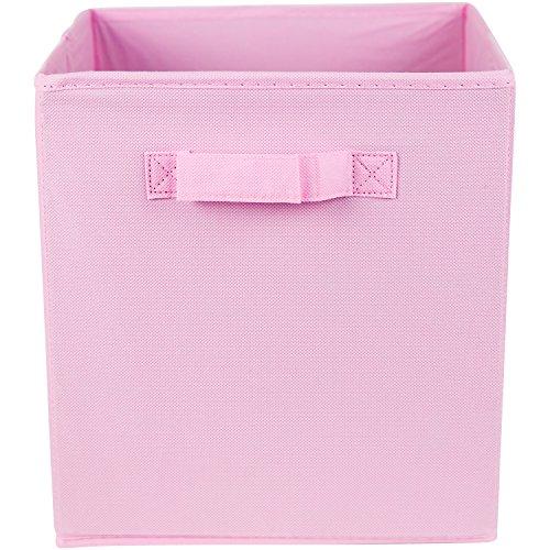 Premium Storage Cube – Fabric Basket Bins – Organize Your Closet, Bedroom & Nursery (Pink)