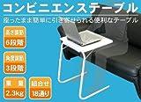 コンビニエンステーブル 自在に18通りに形が変わります パソコンテーブルや一人用テーブルに好きな場所で好きなように便利に使える!コンビニエンステーブル コンビニテーブル おき場所に便利テーブル