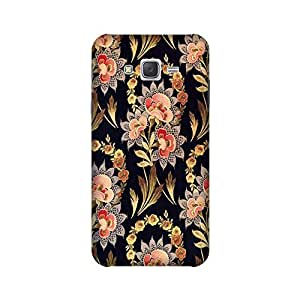 Samsung Galaxy J7 2015 edition Perfect fit Matte finishing Vintage Floral Pattern Mobile Backcover designed by Aaranis (Purple) Perfect fit Matte finishing Vintage Floral Pattern Mobile Backcover designed by Aaranis (Black)