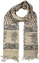 Sahiba Creation silk stole for women's(S C SS- 104, Beige, 70 cm x 225 cm)