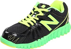 New Balance K2750 NB Groove Running Shoe (Little Kid/Big Kid),Black/Green,11.5 W US Little Kid