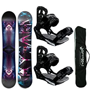 AIRTRACKS SNOWBOARD SET - BOARD COSMOS 159 - SOFTBINDING SAVAGE L - SB BAG