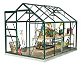 Simplicity Classic Greenhouse Package 6ft3 wide (1920mm) x 8ft3 long (2538mm) with Toughened glass and metal base