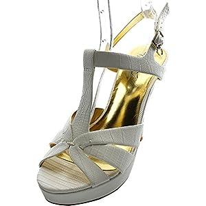 Thalia Sodi Raquell Women Open Toe Synthetic White Platform Heel
