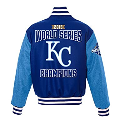 Kansas City Royals 2015 World Series Men's Jacket - Hand Crafted Wool w/ Leather Logos