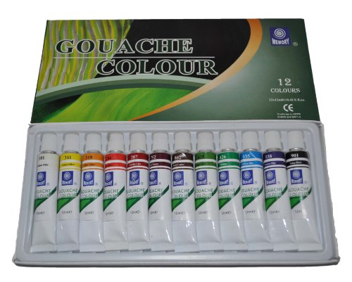 memory-professional-artists-gouache-paint-set-12-colours-in-12ml-aluminium-tubes-retail-packed