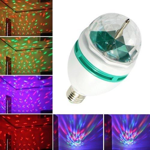 Lemonbest® 3W Rgb Disco Ball Strobe Light, E27 Led Auto Rotating Stage Lighting For Disco Dj Party Club Bar Home front-787077