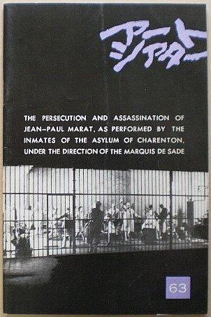 【映画パンフ】マルキ・ド・サドの演出のもとにシャラントン精神病院患者たちによって演じられたジャン=ポール・マラーの迫害と暗殺 アートシアター63 [映画パンフ]