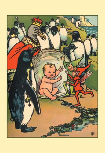 Fairies, Penguins, And A Baby, By Rosa C. Petherick, 20X30 Poster, Heavy Stock Semi-Gloss Paper Print front-973471