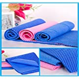 Cooling Towel/Chilly Pad By Cool Besty-Premium Quality-Best Instant Cooling Snap Towel-Perfect Fitness Workout & Athletes Cold Towel & Any Sport Activities/Yoga-Check Buy 2 Or More Deal!- Blue & Pink