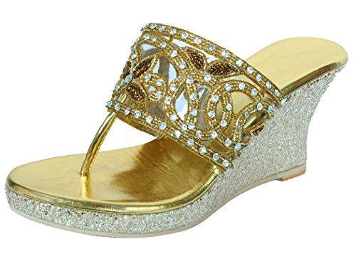 Lifestyle Kudos Lifestyle Women's Gold Wedges (Yellow)