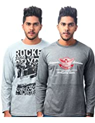 TEKKI GREY-DARK GREY PACK OF 2 T SHIRTS
