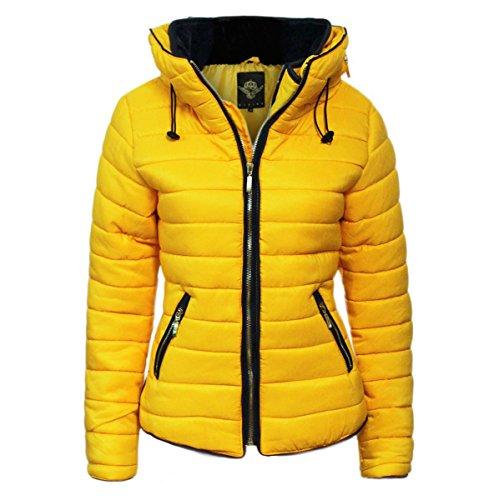 new-ladies-women-zip-up-plain-zara-jacket-contrast-vintage-coat-top-uk-8-18-mustard-8-10-small