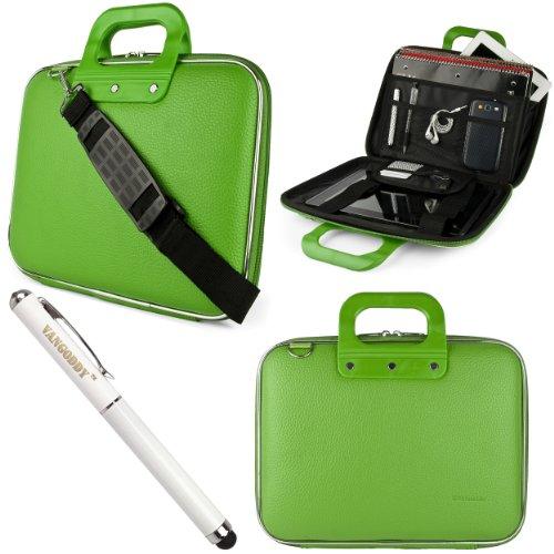 Green Sumaclife Cady Bag Case W/ Shoulder Strap For Asus Eee Slate B121 Windows 7 Professional 12.1-Inch Tablet + Laser Stylus Pen