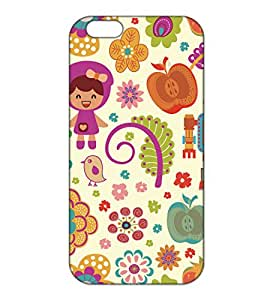 Happoz Apple Iphone 6 Plus / 6s Plus Cases Back Cover Mobile Pouches Patterns Floral Flowers Premium Printed Designer Cartoon Girl 3D Funky Shell Hard Plastic Graphic Armour Fancy Slim Graffiti Imported Cute Colurful Stylish Boys Z003