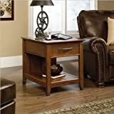 Sauder Carson Forge Smartcenter Side Table, Washington Cherry Finish