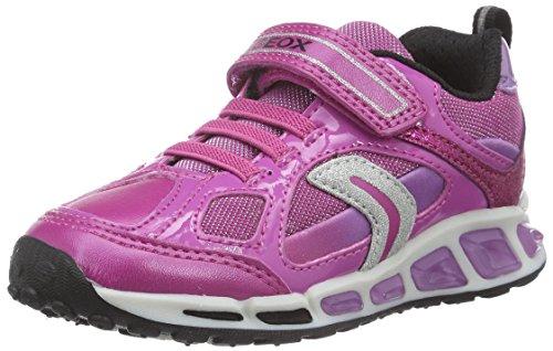Geox J Shuttle Girl D, Scarpe da Ginnastica Basse Bambina, Pink (Fuchsia/LILACC8257), 28 EU