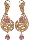 Violet & Purple Gold Plated Dangle & Drop Earrings For Women (1000015187)