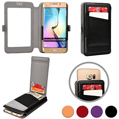 Cooper Cases(TM) Slider Flip Custodia a Portafoglio per Motorola Atrix HD, Electrify 2, Electrify M, Luge in Nero