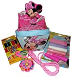 Disney Minnie Mouse Bucket Easter Basket with Jump Rope, Chalk Stencil Kit and More
