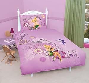 Parure de lit housse de couette f e clochette disney 100 coton fairies - Literie fee clochette ...