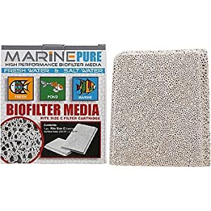 CerMedia MarinePure Rite Size C Bio-Filter Cartridge for Marine and Freshwater Aquariums, Size-C