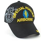 Army Special Forces Airborne Emblem Shadow Adult Cap [Adjustable - Black]
