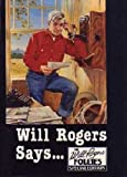Will Rogers Says, Follies Special Edition