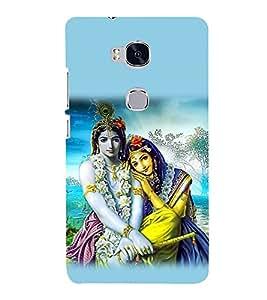 Radha Krishna 3D Hard Polycarbonate Designer Back Case Cover for Huawei Honor 5X :: Huawei Honor X5 :: Huawei Honor GR5