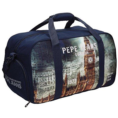 Pepe Jeans 6093551 London Tote da Viaggio, Litri 43.5, Blu