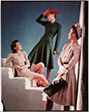 Three girls modelling the newest styles, c 1940s. from The Science plus Society Imagine Library (THIS IS AN ART PRINT)