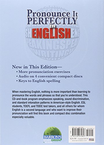 Pronounce It Perfectly in English with Audio CDs (Book & CD)