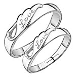 19 Likes Gold & Rhodium Plated Couple ring for Men & Women