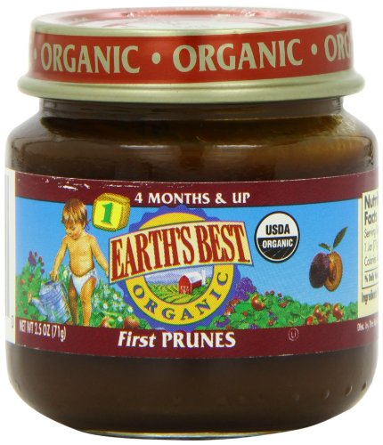Earth's Best Organic Baby Food, First Prunes, 2.5 Ounce (Pack of 12) - 1