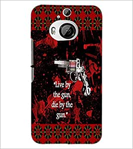 PrintDhaba Quote D-4568 Back Case Cover for HTC ONE M9 PLUS (Multi-Coloured)