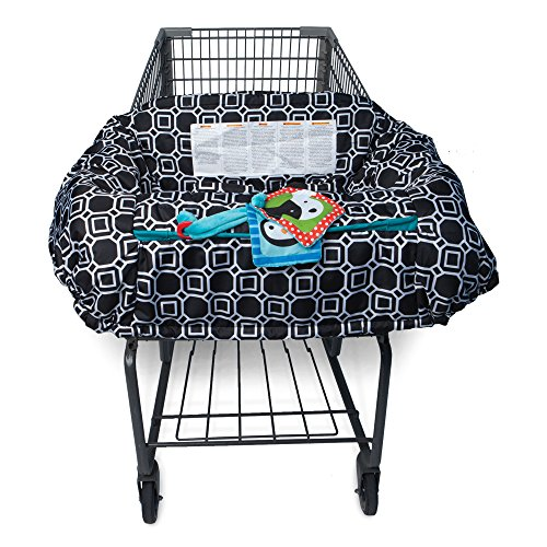 Find Bargain Boppy Shopping Cart and High Chair Cover, City Squares Black and White
