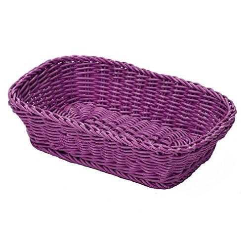 02036120101 Korb, rechteckig, circa 26,5 x 19 x 7 cm, purpur
