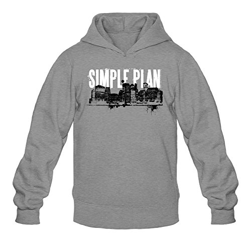 Tommery Men's Simple Plan Long Sleeve Sweatshirts Hoodie