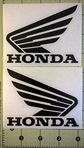 Set of 2 Honda Wing Tank Decals gloss black (Honda Wings compare prices)