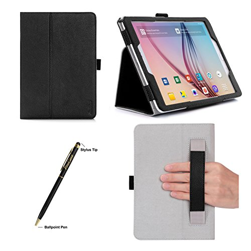 ProCase Samsung Galaxy Tab S2 9.7 Case - Stand Folio Cover Case for 2015 Galaxy Tab S2 Tablet (9.7 inch, SM-T810 / T815), with Hand Strap, auto Sleep/Wake (Black)