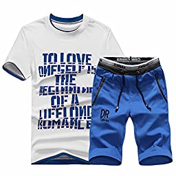Magfitbox Men\'s Fashion Jogging Sweat T-shirts & Shorts