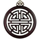 Oriental Furniture Long Life Plaque - Rosewood