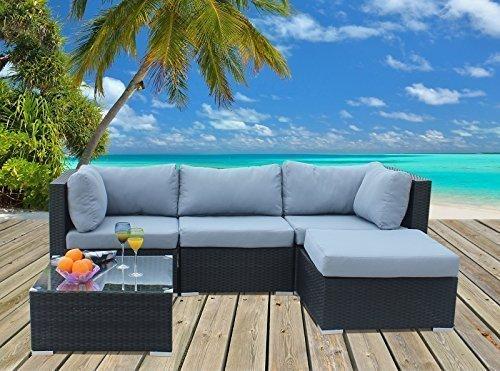 Polyrattan Lounge Sitzgruppe Gartenmöbel Garnitur Poly Rattan 3 Sitzplätze online bestellen