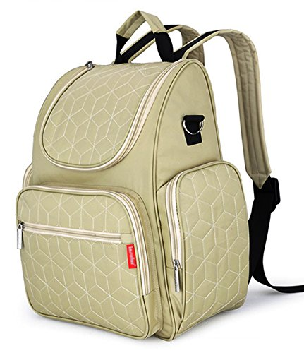 hoxis-travel-portable-smart-organizer-system-diaper-backpack-with-changing-pad-ivory