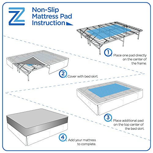 Zinus Non Slip Pads For Mattresses Amp Rugs Set Of 2 Home