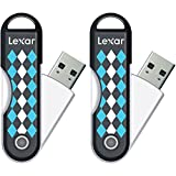 Lexar 32GB JumpDrive TwistTurn USB Flash Drive 2-Pack - Black Argyle