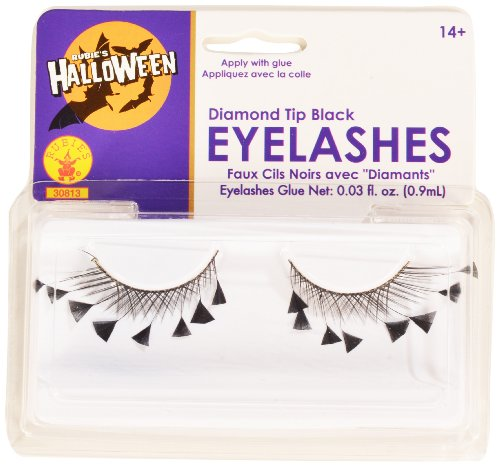 Rubies Diamond Tips Eyelashes and Adhesive - 1